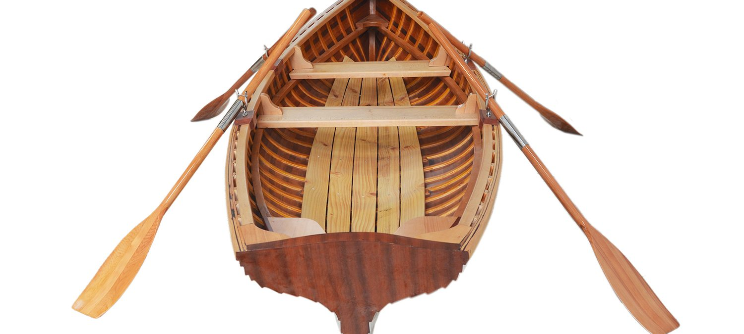clinker built whitehall rowboat
